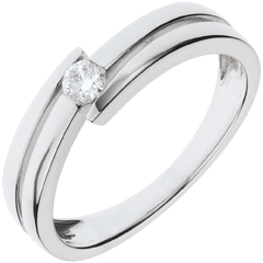 Ring Liefdesnest - Salome - 18 karaat witgoud - 0.11 karaat Diamant