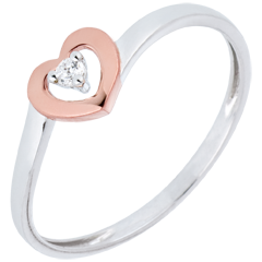 Ring Little Hearts - 0.03 carat diamond
