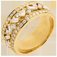Ring Lotsbestemming - Keizerin - geel goud diamanten - 0.85 karaat