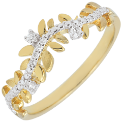 Ring Magische Tuin - Gebladerte Royal - Diamant en geel goud - 9 karaat