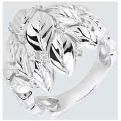 Ring Magische Tuin - Kostbaar Dauw - Wit goud