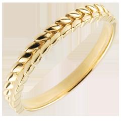 Ring Magische Tuin - Vlecht - geel goud - 9 karaat