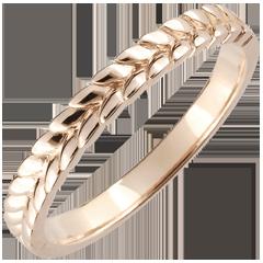 Ring Magische Tuin - Vlecht - roze goud - 18 karaat
