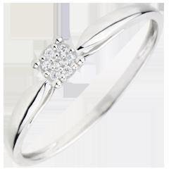 Ring Ontelbare Sterren - 0.04 karaat - 9 karaat witgoud