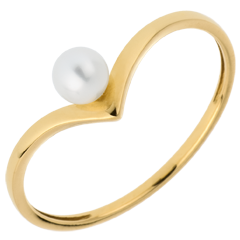 Ring Pearl Olga - Yellow gold