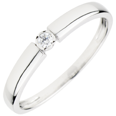 Ring Pill - 0.04 karaat Diamant - 18 karaat witgoud