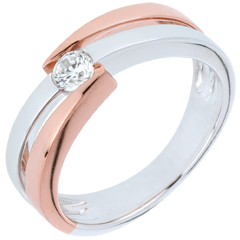 Ring Precious Nest - Solitaire Rings - 0.18 carat - 9 carat gold