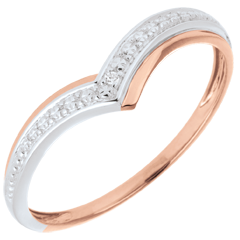 Ring Precious Wings Roze Goud