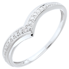 Ring Precious Wings - White gold