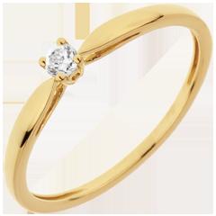 Ring Riet - 0.07 karaat Diamant - 18 karaat geelgoud