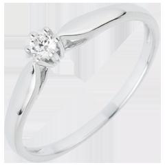 Ring Riet 6 Diamanten pootjes - 0.07 karaat - 18 karaat witgoud