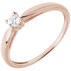 Ring Roseau rozégoud - 0.13 karaat - 18 karaat goud