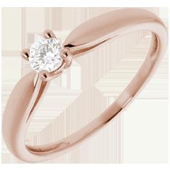 Ring Roseau rozégoud - 0.16 karaat - 18 karaat goud