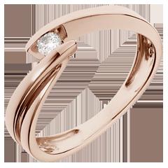 Ring Roze Goud Ondine - 0.07 karaat