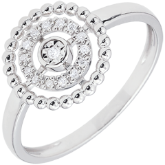 Ring Salty Flower - circle - white gold