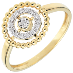 Ring Salty Flower - circle - yellow gold