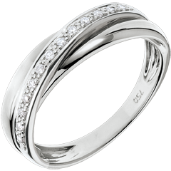 Ring Saturnus Diamant - 9 karaat witgoud