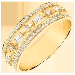 Ring Schicksal - Kleiner Kaiserin - 71 Diamanten - Gelbgold 9 Karat
