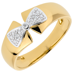 Ring Schleife Amelia in Gelbgold