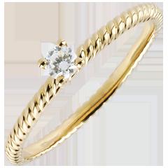 Ring Solitair Gouden Koord - Geel Goud