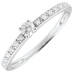 Ring Solitaire Boreal - 0.09 karaat - 9 karaat witgoud