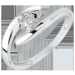 Ring Solitaire Liefdesnest - Orion - 18 karaat witgoud