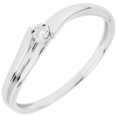 Ring Solitaire Lucea - 18 karaat witgoud