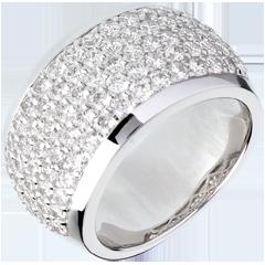 Ring Sterrenbeeld - Hemels Landschap - 18 karaat witgoud geplaveid - 2,05 karaat - 79 Diamanten