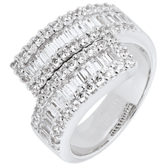 Ring Sterrenbeeld - Oneindig Licht variatie - 18 karaat witgoud
