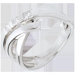 Ring Trilogie Kordel in Weissgold - 0.26 Karat