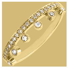 Ring Vielfalt - Majestät - 9 Karat Gelbgold und Diamanten