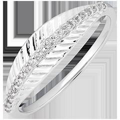 Royal Palm ring - 9K white gold and diamonds