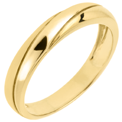 Saturn Trilogy Wedding Ring - Yellow gold - 18 carat