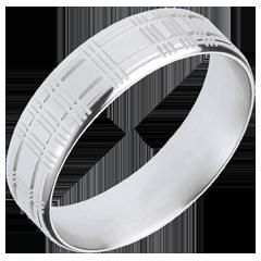 Schotse ring 18 karaat witgoud