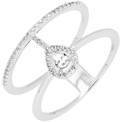 Seraphine ring - 9K white gold and diamonds