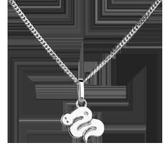 Serpentello - modello piccolo - Oro bianco - 9 carati - Diamante