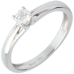 Solitaire Edelweiss - 0.21 carats - or blanc 18 carats