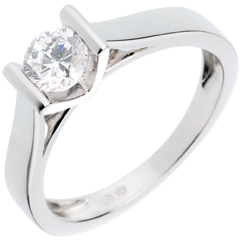 Solitaire elegance white gold - 0.52 carat
