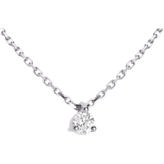 Solitaire necklace white gold