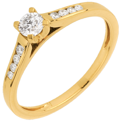 Solitaire or jaune Altesse - diamant 0.20 carat