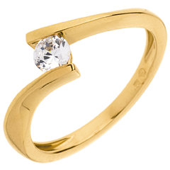 Solitaire Precious Nest - Apostrophe - yellow gold - diamond 0.25 carat - 18 carats