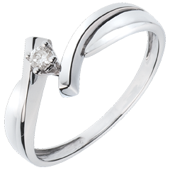 Solitaire Precious Nest - Jupiter - white gold -0.05 carats diamond - 18 carats