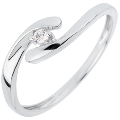 Solitaire Precious Nest - My Dear - white gold - 18 carats
