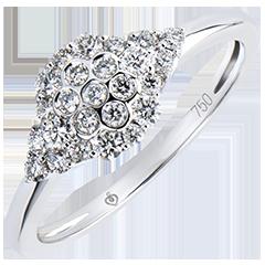 Solitaire ring Frisheid - Bijenkorf - wit goud 9 karaat en diamanten