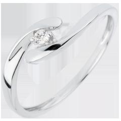 Solitaire Ring Liefdesnest - Lieve - 18 karaat witgoud