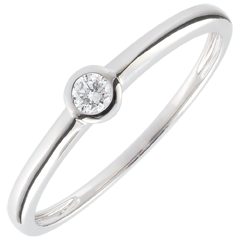 Solitaire Ring My Diamond– White gold – 0.08 carats – white gold 18 carats