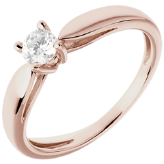 Solitaire Ring Sprig - Pink gold - 0.25 carat