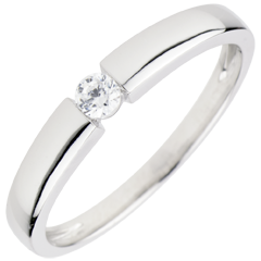 Solitaire Ring Treasure Gold - 0.1 carat