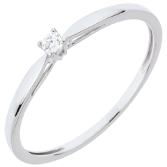 Solitairs Ring Riet - 0.04 karaat