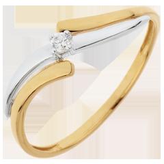 Solitär Ring Kostbarer Kokon - Abenteuer - Diamant 0. 04 Karat
